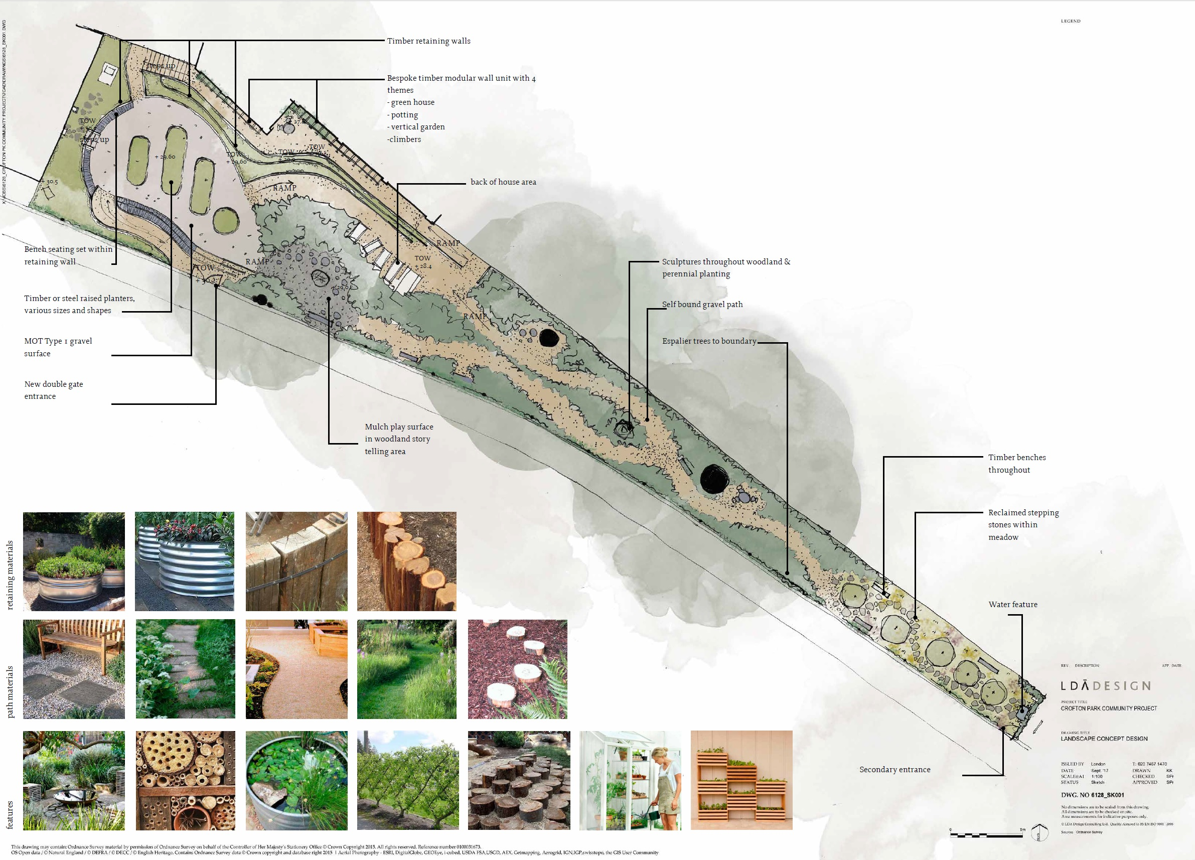 Concept Design by LDA Design – Crofton Park Railway Garden
