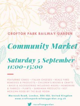 Community Market Day 5th September @ Marnock Road, SE4 1EU